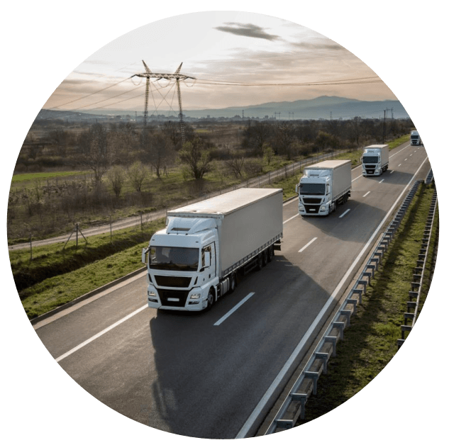 Logistics trucks BI Analytics roundel