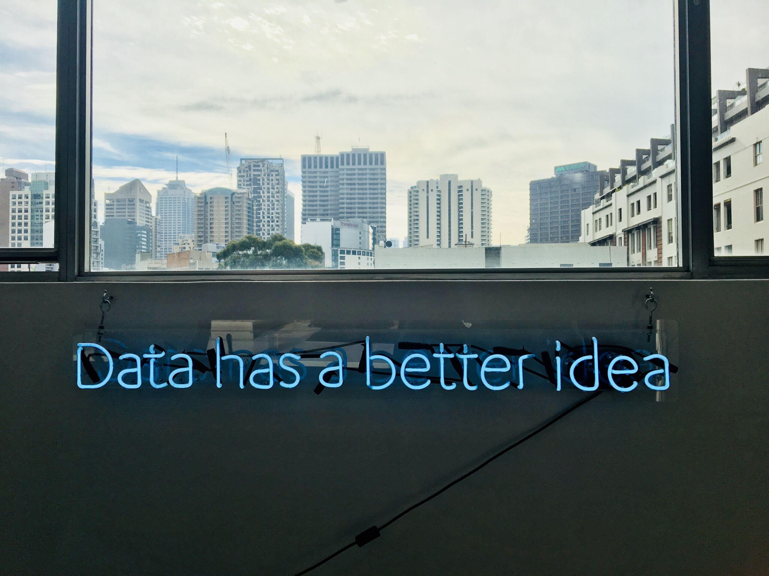 Data has a better idea